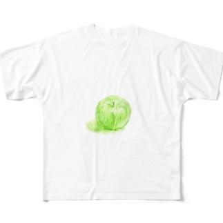 ノートに描いたリンゴ Full graphic T-shirts