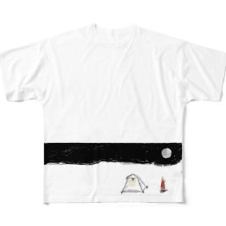 キャンプタイム Full graphic T-shirts