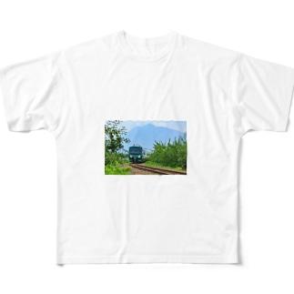五能線(岩木山) Full graphic T-shirts