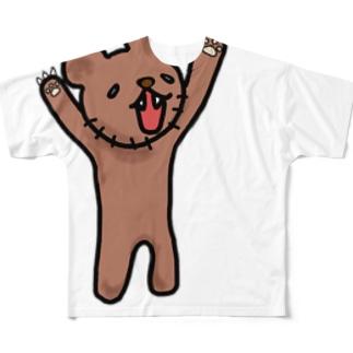 (「・ω・)「ガオーくま Full Graphic T-Shirt