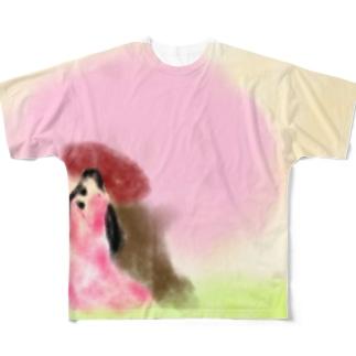春爛漫 Full graphic T-shirts