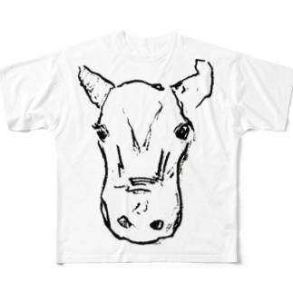牛ちゃん Full graphic T-shirts