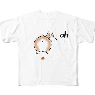 失敗しちゃったコーギーくん。 Full graphic T-shirts