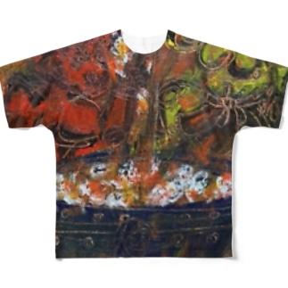db_jr2021の地獄のみやげ Full graphic T-shirts