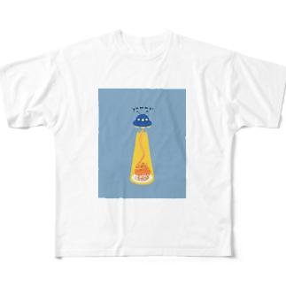 ナポリタン泥棒(blue) Full graphic T-shirts