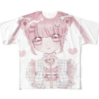 可愛いって言わないと呪うよ! Full graphic T-shirts