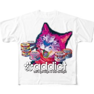 サイバー猫 Full graphic T-shirts