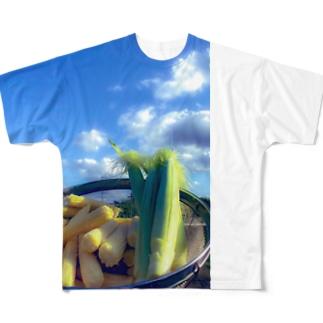 あるぱかさんの憧れのヤングコーン Full graphic T-shirts