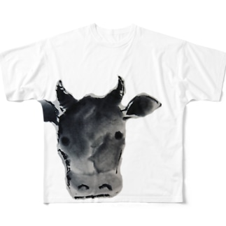 水墨絵師 松木墨善の丑年2021 Full graphic T-shirts