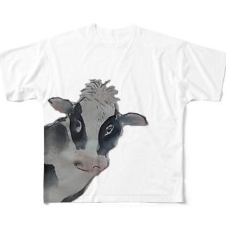 水墨絵師 松木墨善の牛2021 Full graphic T-shirts