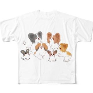パピヨン大集合 Full Graphic T-Shirt