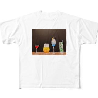 季節のカクテル Full graphic T-shirts
