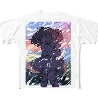 冬とかいうマジで寒くて最悪の季節 Full graphic T-shirts
