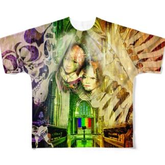 RainbowKitchen 座裏の古内裏Tシャツ Full graphic T-shirts