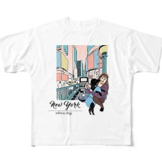 YKKとクロエ in ニューヨーク(カラー) Full graphic T-shirts