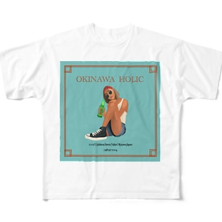 中毒沖縄 Full graphic T-shirts