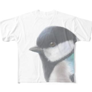 シジュウカラ フルグラフィックTシャツ Full graphic T-shirts