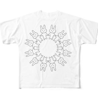 マイムマイムウサギ Full graphic T-shirts