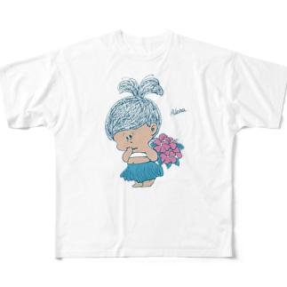 MINI BABANA アロハ Full graphic T-shirts