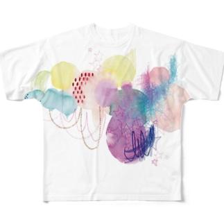 「森からうまれる星の屑。」 Full graphic T-shirts