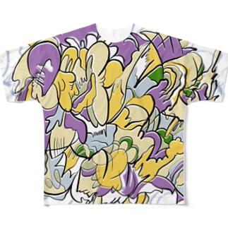宇宙に鳴る風の音 Full graphic T-shirts