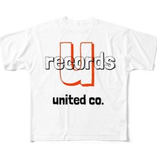 ユナイテッドレコード Full graphic T-shirts