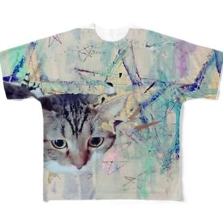星の猫さん Full graphic T-shirts