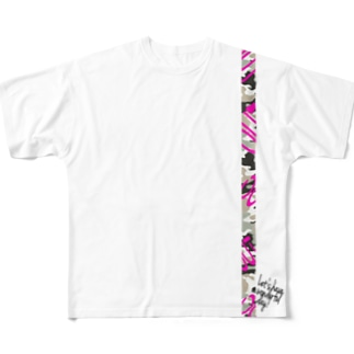 OUT x wonderful day! Full graphic T-shirts
