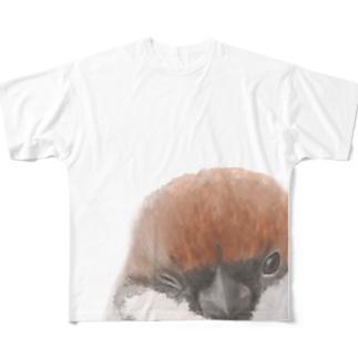 スズメ フルグラフィックTシャツ Full graphic T-shirts