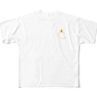 フルグラフィックとりおばけ Full graphic T-shirts
