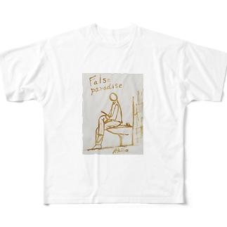 トイレスマホ~描いた偽りの楽園 Full graphic T-shirts