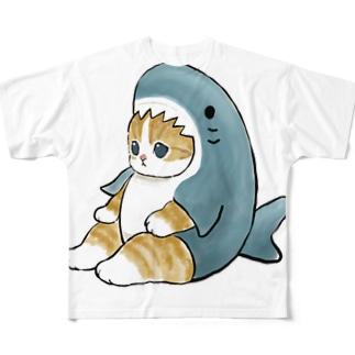 サメにゃん Full graphic T-shirts