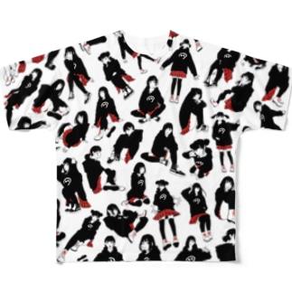赤チェック革命 Full Graphic T-Shirt