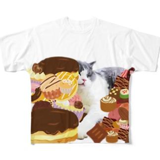 ぐっすりむたさん Full Graphic T-Shirt