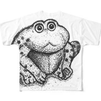 カエルのゲコたん#シンプルイズベスト Full graphic T-shirts
