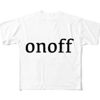on off Full graphic T-shirts
