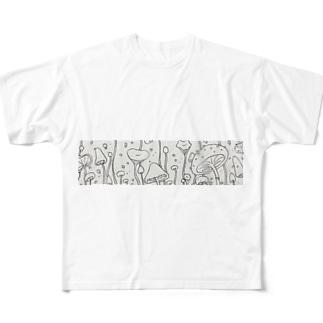 キノコ Full graphic T-shirts