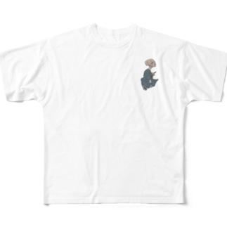 妖怪 ぬらりひょん(ワンポイント) Full graphic T-shirts