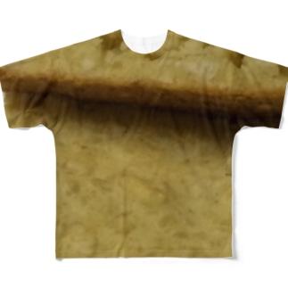 白豆の焼きケーキ(chopped soybeans) Full graphic T-shirts