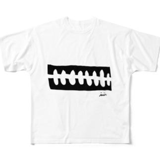 骨々mono Full graphic T-shirts