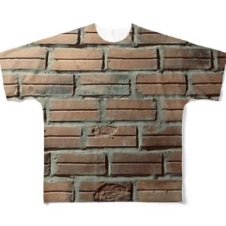 ベトナムデザインのVIETSTAR★のベトナムのレンガブロック Full graphic T-shirts