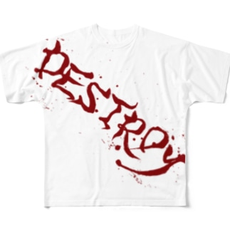 DESTROY Full graphic T-shirts