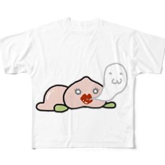 ももたん Full graphic T-shirts
