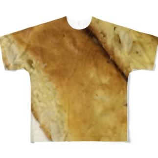 白豆の焼きケーキ Full graphic T-shirts