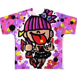 パンクちゃん🎸 Full graphic T-shirts