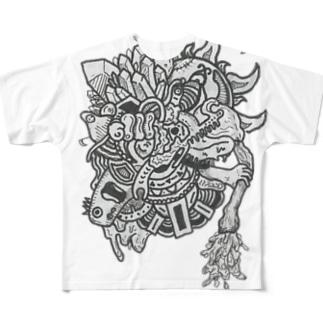 枯渇 Full graphic T-shirts