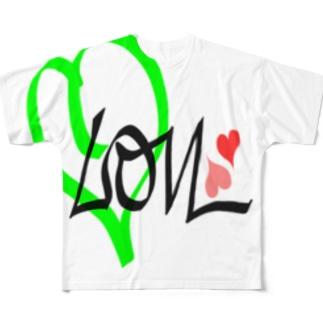 レモン 💚ラブ Full graphic T-shirts