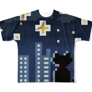 JOIE  「夜景猫」 Full graphic T-shirts