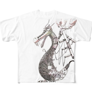 ガラクタドラゴン Full graphic T-shirts