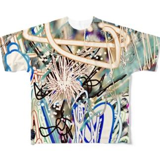☆劇画 Full graphic T-shirts